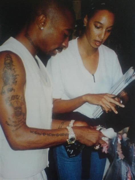 kidada jones tupac tattoo of black and on