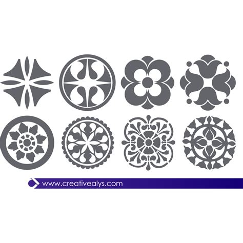 design elements images vector for free use abstract floral design elements