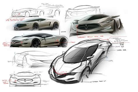 Tesla Designs 2016 Tesla Model R Hypercar Concept Design Sketches Carwow