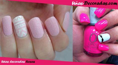 imagenes uñas decoradas rosas las mejores ideas y dise 241 os de u 241 as decoradas en color rosa