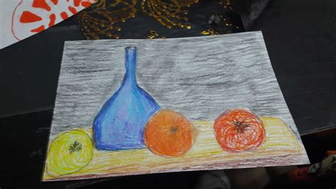 draw  oil pastels  steps  pictures