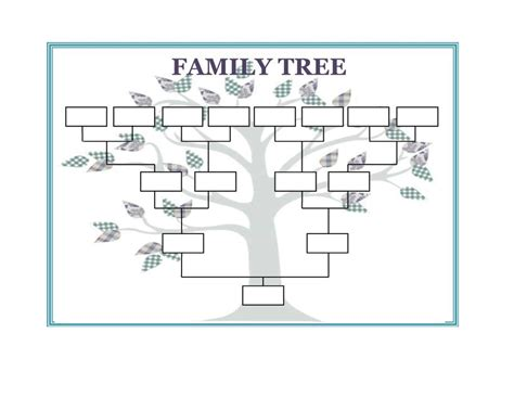 Family Tree Template Word Madinbelgrade Family Tree Sle Template