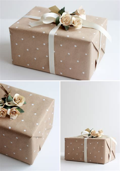 How To Make A Paper Wrap - diy how to make polka dot wrapping paper