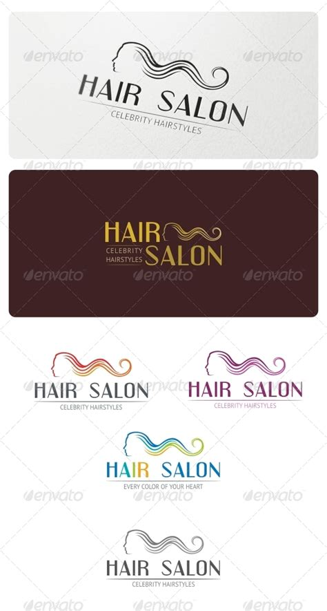 salon logo templates hair salon logo template graphicriver