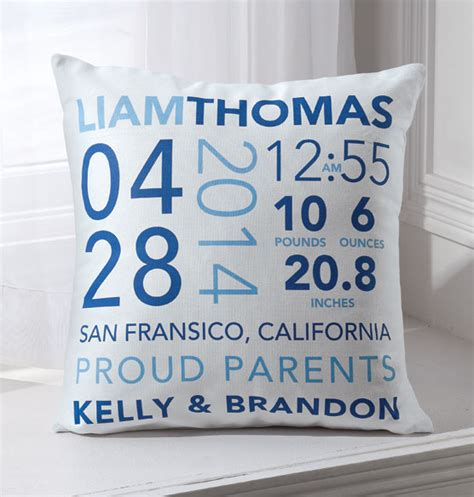 Birth Pillow by Birth Announcement Pillow Personalized Pillow Exposures