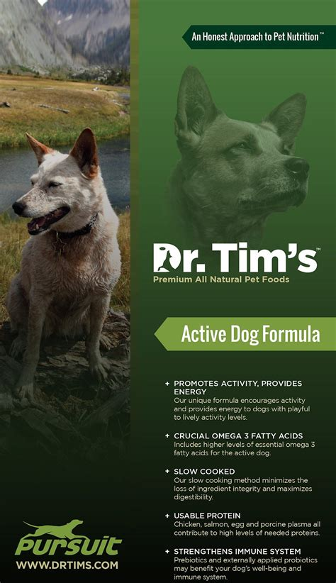 dr tim s food dr tim s active pursuit formula food 44 lb bag chewy