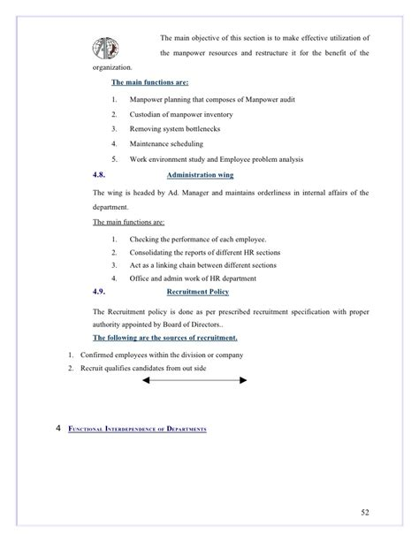 Mba Project Report On Manpower Planning by 32503821 Project Report Org Study Mba Mgu 1
