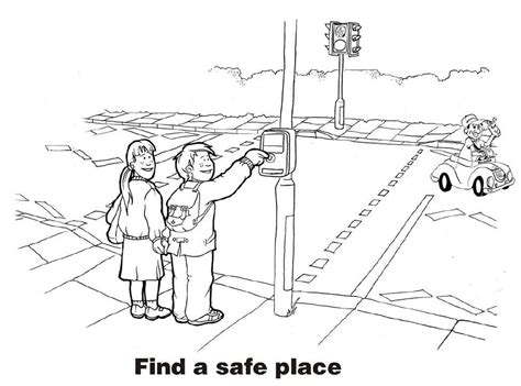 traffic safety coloring pages az coloring pages
