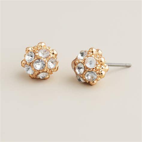 gold fireball stud earrings world market