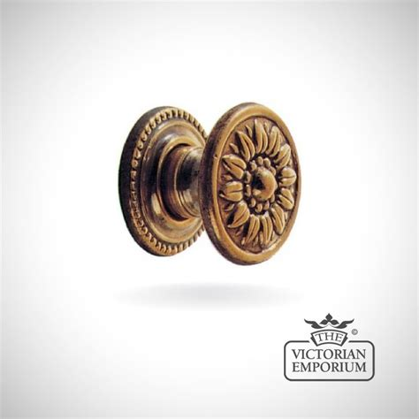 Decorative Door Knobs Uk by Decorative Cupboard Knob With Flower Pattern In Antique