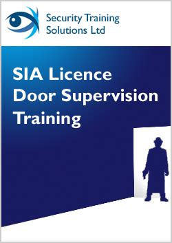 Sia Door Supervisor Course by Sia Licence Door Supervision Security