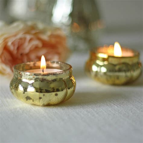mercury tea light holders mini mercury gold tea light holder by the wedding of my