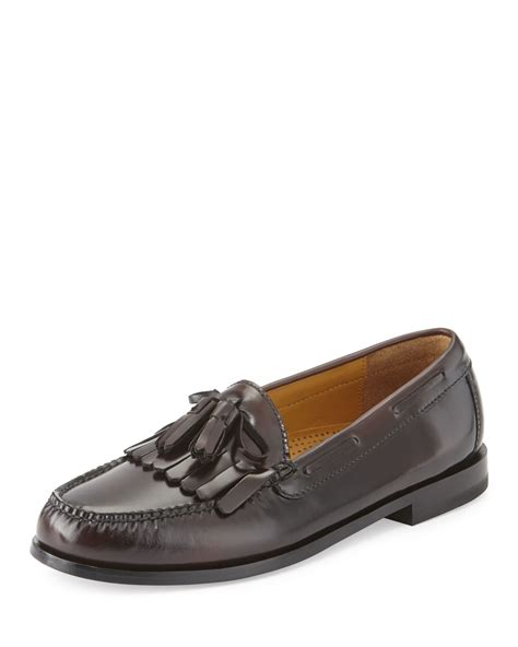 pinch loafers cole haan pinch polished leather tassel loafer in purple