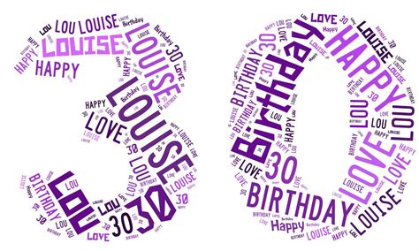 personalised birthday gift word art 1st 18th 21st 30th