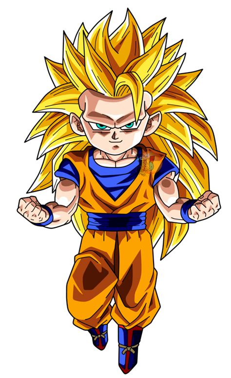 Goku Vegeta Ssj 3 goku ssj3 chibi facudibuja by facudibuja on deviantart