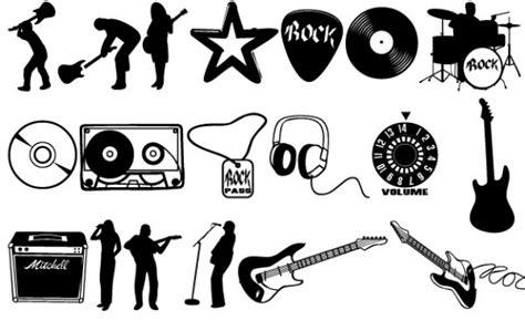 Imagenes Vectores Rock | rock conjunto de vectores descargar vectores gratis