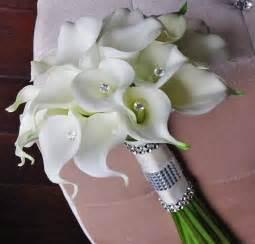 Silk Flower Bouquets Silk Flower Wedding Bouquet Calla Lilies Pinkous