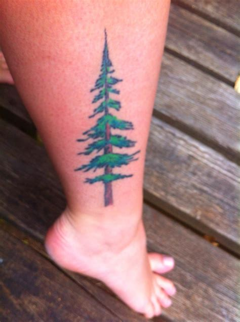 fir tree tattoo made in oregon my douglas fir tree skin