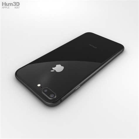 apple iphone 8 plus space gray 3d model hum3d