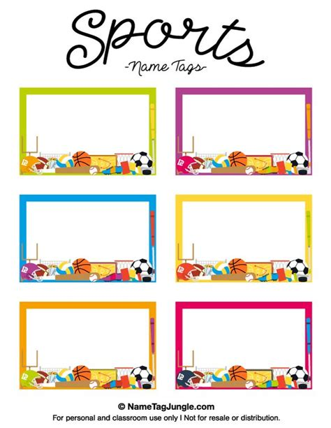 name the template free printable sports name tags the template can also be