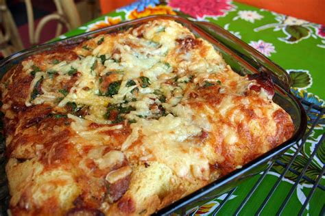 strata recipe overnight egg cheese strata recipe dishmaps
