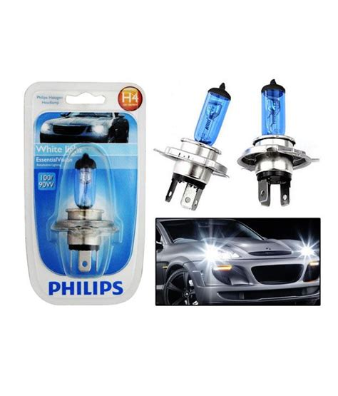 Bohlam Philips H4 90 100 philips essential vision car headlight bulbs h4 100 90w white buy philips essential
