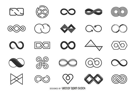 infinity symbol template infinity logo template collection icons