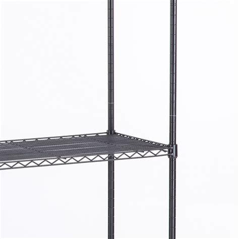 4 tier commercial 46 x82 x18 wire shelving rack adjustable steel shelf ebay