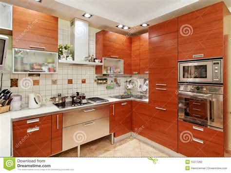 kitchen wood furniture kitchen interior with wooden furniture stock photo image