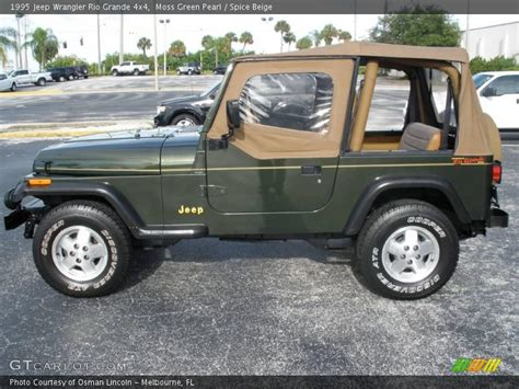 1995 Jeep Wrangler Green 1995 Jeep Wrangler Grande 4x4 In Moss Green Pearl