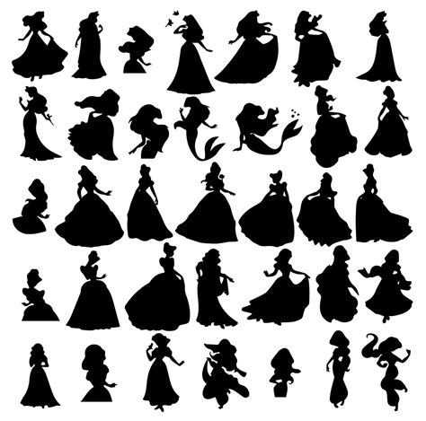 House Silhouette by Disney Princess Svg Disney Princess Eps Disney Princess