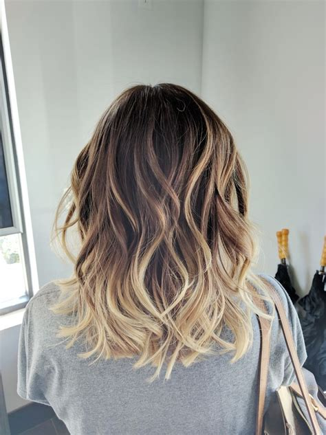 Medium Length Hair With Ombre Highlights | trendy hair highlights ombre balayage color melt blonde