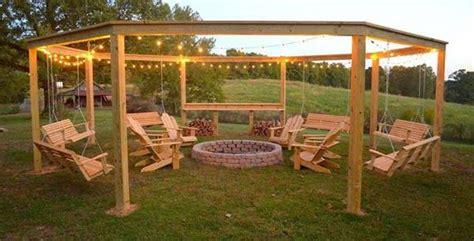diy backyard pit diy backyard pit with swing seats
