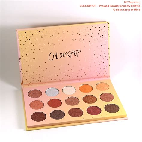 Colourpop Golden State Of Mind Pressed Shadow Palette 2017 colourpop pressed powder shadow palette in golden state of mind my box