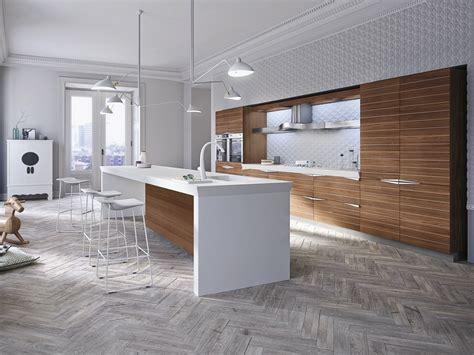 le cuisine design cuisine int 233 gr 233 e en noyer avec 238 lot by snaidero