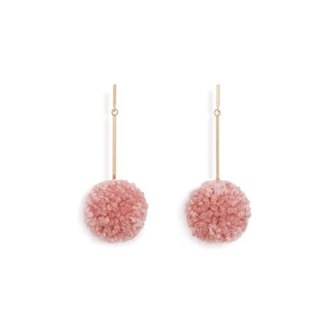 Pom Pom Statement Earring make a statement diy pom pom earrings and then we tried