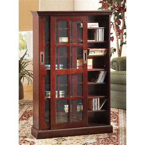 Dvd Storage Cabinet With Sliding Doors Furniture Small Wood Dvd Storage With Glass Doors And Shelves Marvelous Dvd Cabinet With Doors