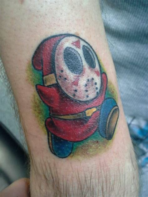 tattoo shy tattoo shy guy with voorheese mask by marshall harris on