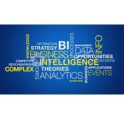 Business Intelligence Word Cloud Text Animation Stock