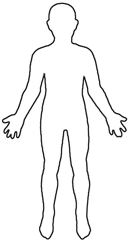 Human Body Outline Printable Cliparts Co Human Template