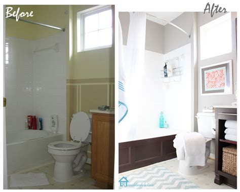 inexpensive bathroom makeovers cheap bathroom makeover banos pinterest