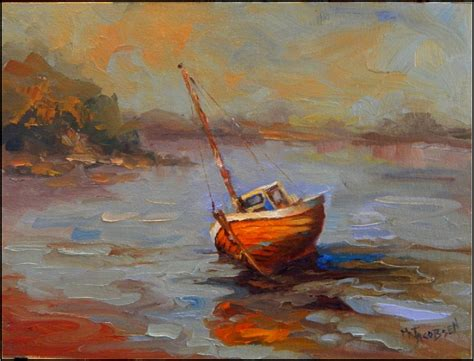 boat oil painting paint dance quot low tide quot 9x12 oil on canvas paintings of