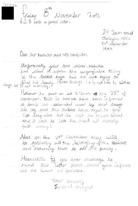 exles of formal letter writing ks2 parkfield primary school english
