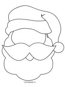 santa claus template printable santa mask coloring page