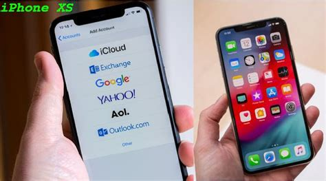 how to add an e mail account on xs and iphone xs max tutorial manual