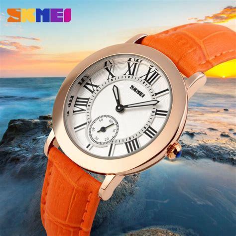 skmei jam tangan analog wanita 1083cl orange