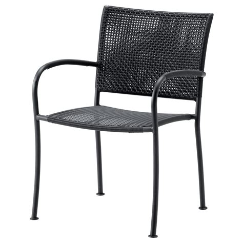 Outdoor Garden Chairs L 196 Ck 214 Chair With Armrests Outdoor Grey Ikea