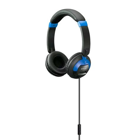 Headphone Tdk tdk st260s on ear headphones w mic track ios android blue expansys australia