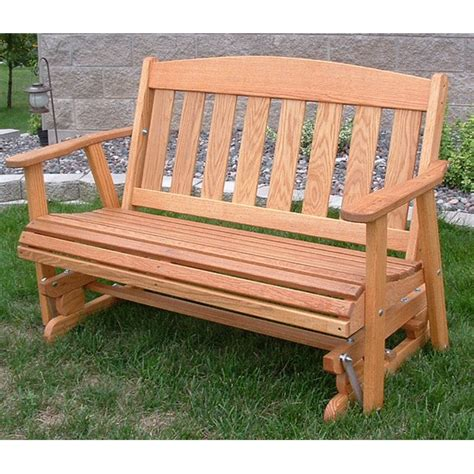 Amish outdoor furniture mission solid front porch swing glider