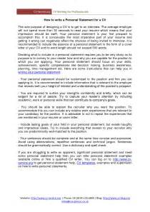 Personal Summary Resume Examples Perfect Personal Statements For Cv Online Writing Service
